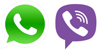 WhatsApp,Viber